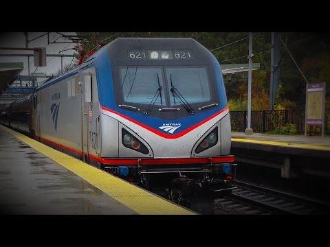 MBTA & Amtrak Trains @ Route 128 Station