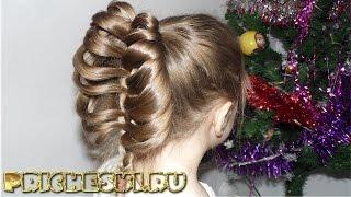 Плетение кос на длинные волосы  Детская прическа