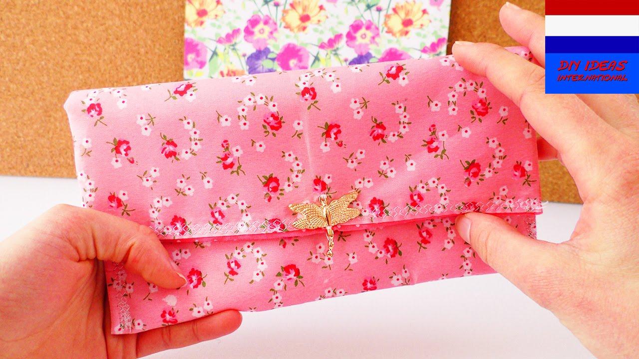 Vaak DIY portemonnee naaien | stoffen etui, klein tasje voor make-up &AM97