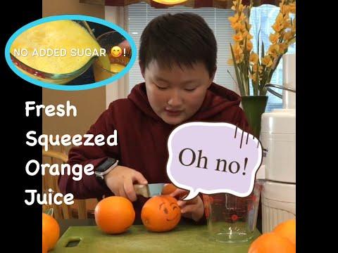 Entertaining KID Homemade Orange Juice Tutorial // 10 Health Benefits | King Jimmy in the Kitchen thumbnail