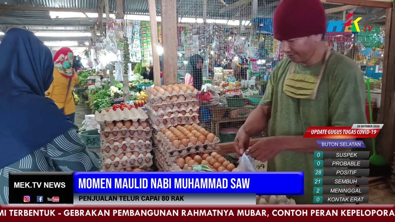 Momen Maulid Nabi Muhammad SAW Penjualan Telur Capai 80 Rak