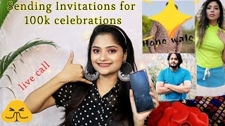 Calling my would be husband to invite in 100k party, live call speaker, sending Invitation to friend
