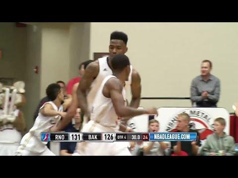Derek Cooke Jr. posts 12 points & 14 rebounds vs. the Bighorns, 1/28/2016