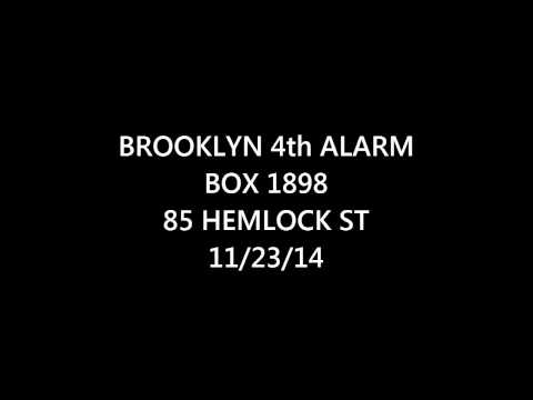 FDNY Radio: Brooklyn 4th Alarm Box 1898 11/22/14