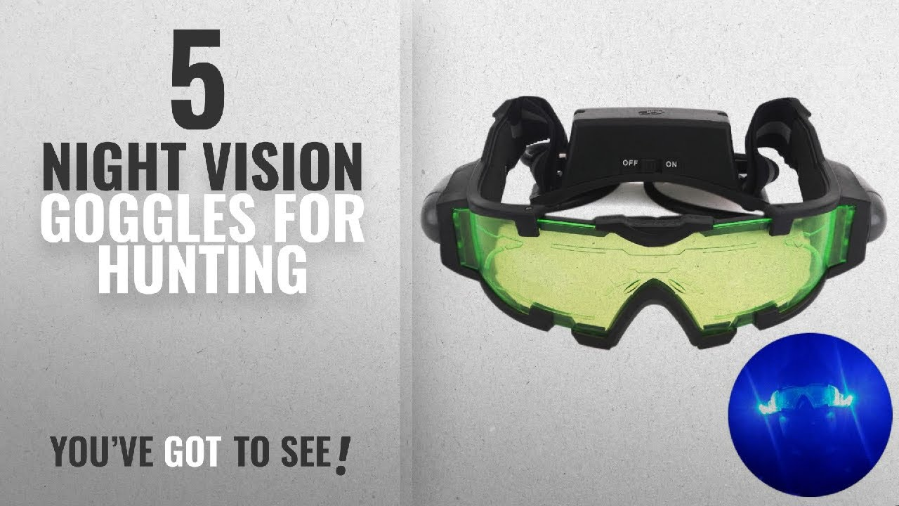 6548cf2eee7 Top 10 Night Vision Goggles For Hunting  2018   AGM Adjustable Night Vision  25 Feet Goggles with