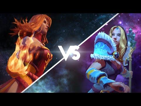видео: Эпическая Рэп Битва в dota 2 : lina vs cm (crystal maiden)