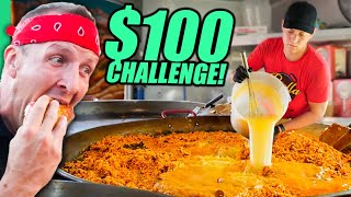 $100 Food Truck Challenge!! USA's Stŗeet Food of the North!!