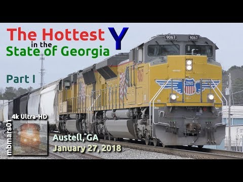 [5e][4k] The Hottest Y in the State of Georgia Pt. 1/2, Railfanning Austell, GA 01/27/2018 ©mbmars01