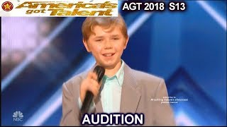 Patches 13 year old Rapper with Original song America's Got Talent 2018 Audition AGT