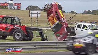 John Iafolla Big Crash 2019 Toyota 86 Racing Series Sandown 500