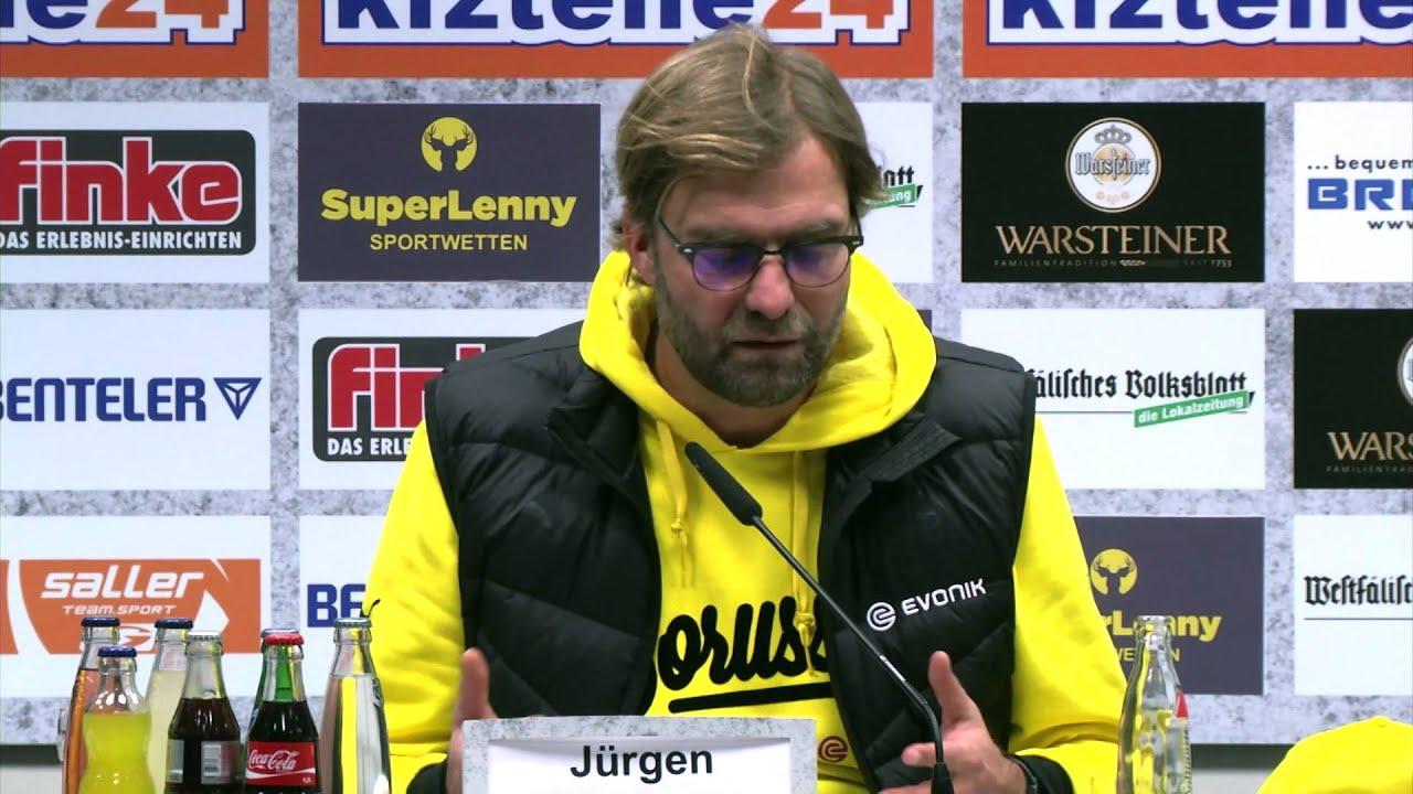 """Jürgen Klopp über Marvin Bakalorz: """"War einfach too much""""   SC Paderborn 07 - Borussia Dortmund 2:2"""