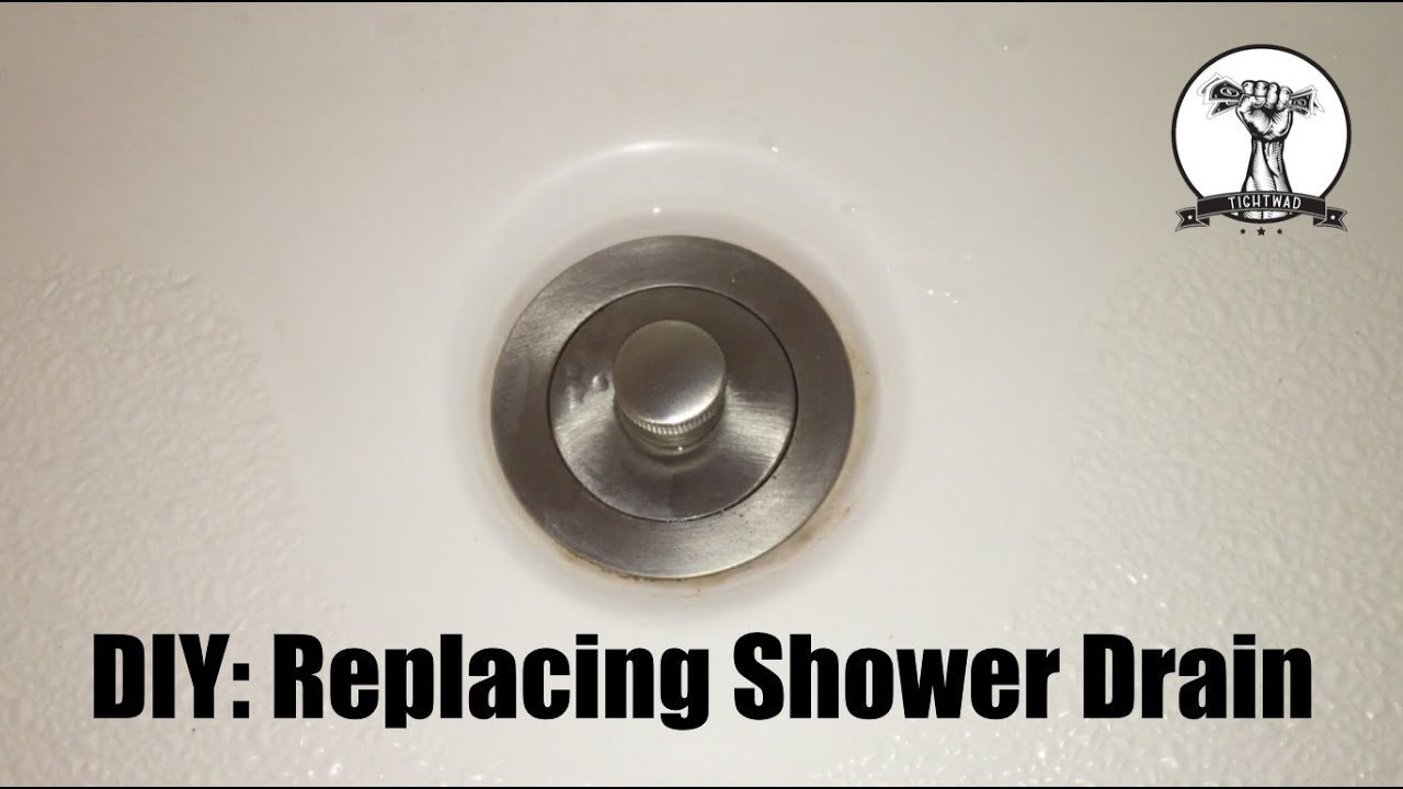 how gasket remove shower a replacement rubber the cover base drain prying out to