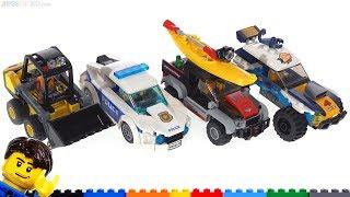 Baixar Four LEGO City set reviews! Desert Rally, Police Car, Kayak Adventure, Loader