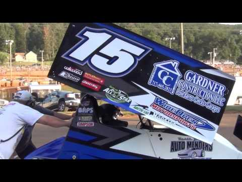 Lincoln Speedway 410 and 358 Sprint Car Highlights 8-27-16