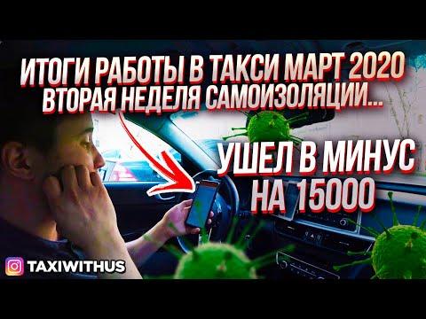 Итоги работы в Яндекс такси за март / Позитивный таксист / Самоизоляция продолжается