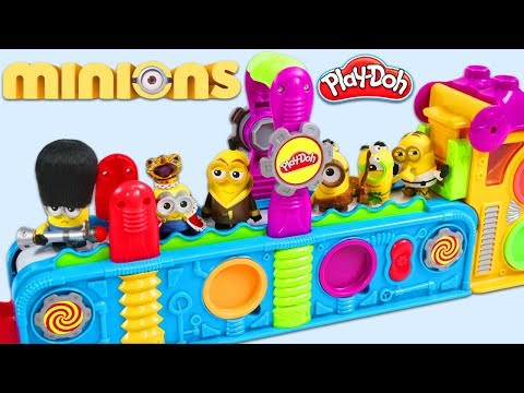 MINIONS Visit Play Doh Mega Fun Factory Playset!