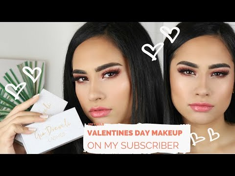 SOFT GLAM DRUGSTORE VALENTINES MAKEUP ON MY SUBSCRIBER || GIO DREVELI ||