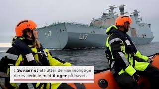 Værnepligtige på støtteskibet Esbern Snare