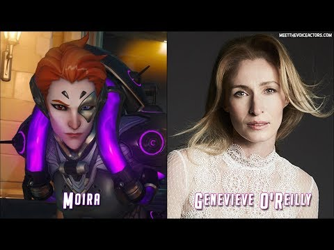 Overwatch All 26 Characters And Voice Actors  Moira Update  2017