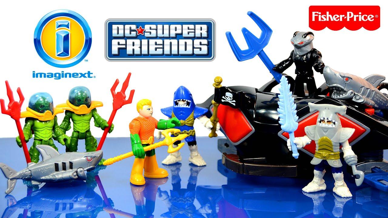 Black Manta /& Sub Aquaman DC Super Friends Imaginext