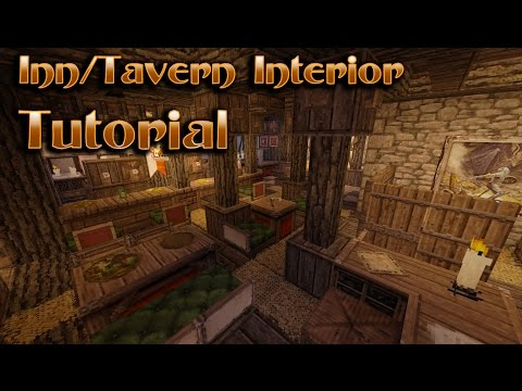 Minecraft Interior Design - Tavern/Inn Tutorial