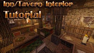 Minecraft Interior Design Tavern/Inn Tutorial YouTube