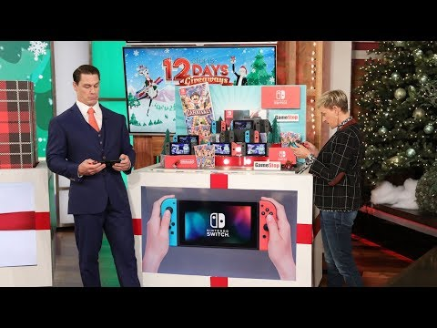 Kobe - John Cena took over Ellen for day 6 of 12 Days of Giveaways