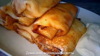 Блины с Творогом Рецепт Налисников  в сливочном масле Домашняя Вкусняшка Рецепты