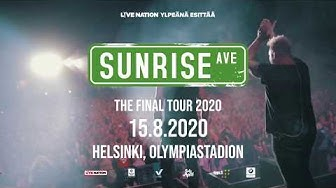 Sunrise Avenue: Thank You For Everything -jäähyväiskonsertti Helsingin Olympiastadionilla 15.8.2020!