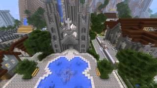 Minecraft карта - Большой средневековый замок!(Minecraft карта -