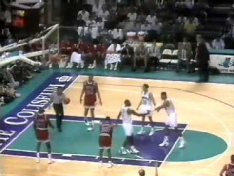 1992 93 NBA Season Chi@Cha Apr 23