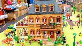 Кукольный домик, кукольная свадьба и отель Playmobil! Показываем покупки, играем на детской площадке