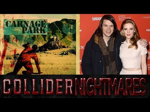 Mickey Keating and Ashley Bell of Carnage Park In Studio   Collider Nightmares