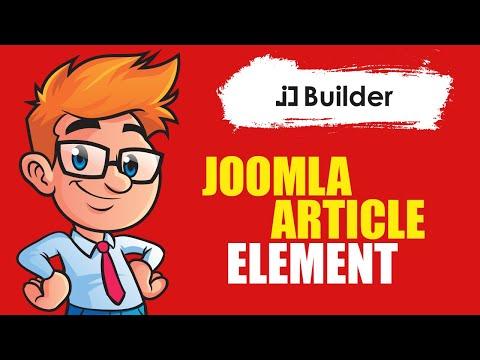 Joomla Single Article Element For JD Builder