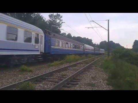 EU07-023 + KIEV EXPRESS do Kijowa przejeżdża obok lubelskiego Starego Gaju 27.06.2015