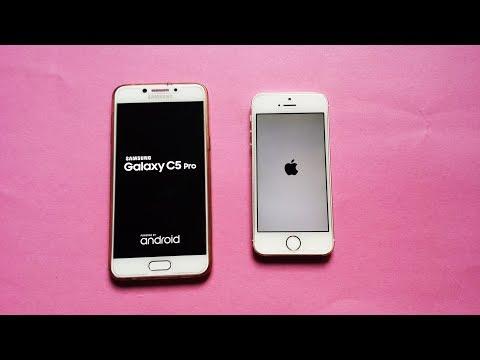 Samsung Galaxy C5 Pro vs IPhone 5s - Speed test - in full HD
