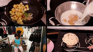 INDIAN SIMPLE DINNER ROUTINE | Mishti Doi | Sukhi Arbi | Shopping Day | Indian vlogger | Veg Dinner
