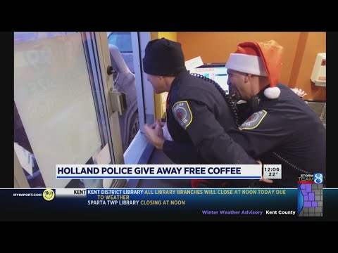 Drive-thru surprise: Holland police give away free drinks