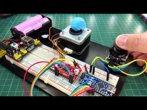 Control stepper motor using easy driver with joystick for Arduino controlled stepper motor