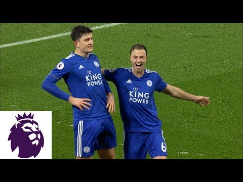 Harry Maguire scores equalizer for Leicester City v. Liverpool | Premier League | NBC Sports