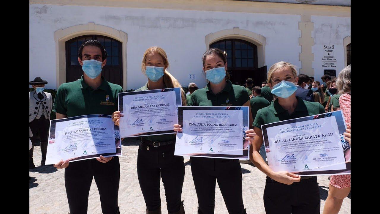 Entrega de diplomas a los alumnos de la REAAE. 03-07-20
