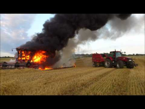 case ih combine 2188 AXIAL-FLOW 2012   on fire 2012