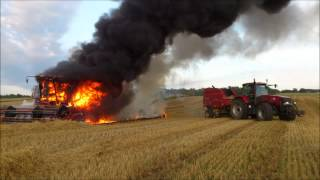 case ih combine 2188 axial flow 2012 on fire 2012
