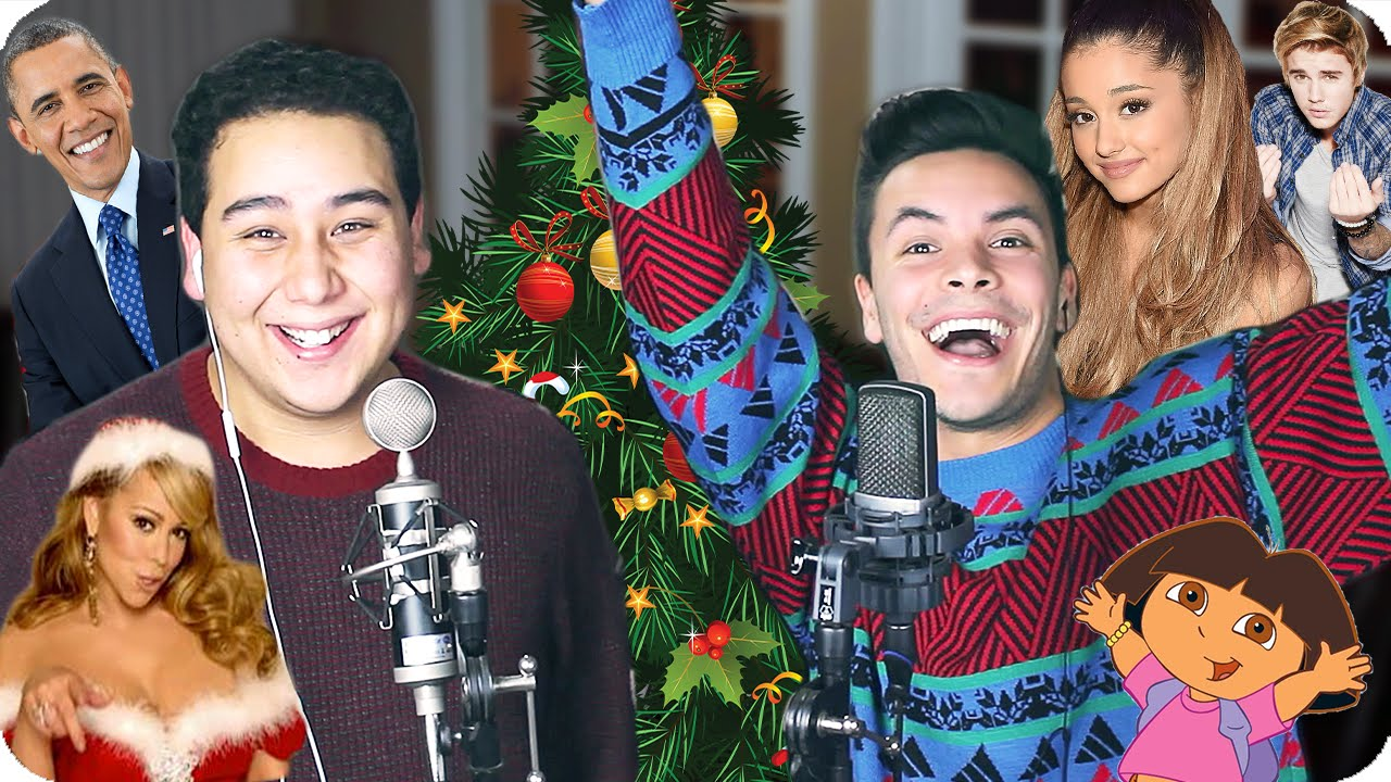 Mariah Carey All I Want For Christmas Is You Impersonation Challenge Cover Live One Take