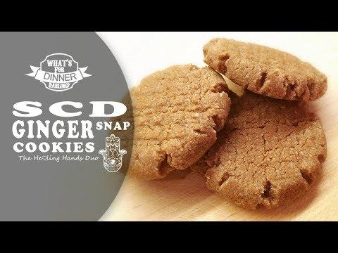 SCD Ginger Snap Cookies (Grain, Egg, Dairy & Refined Sugar Free)