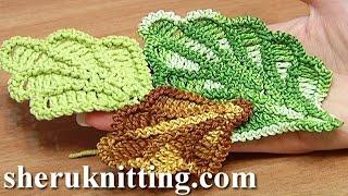 How to Crochet Oak Leaf Step-by-step Tutorial 16