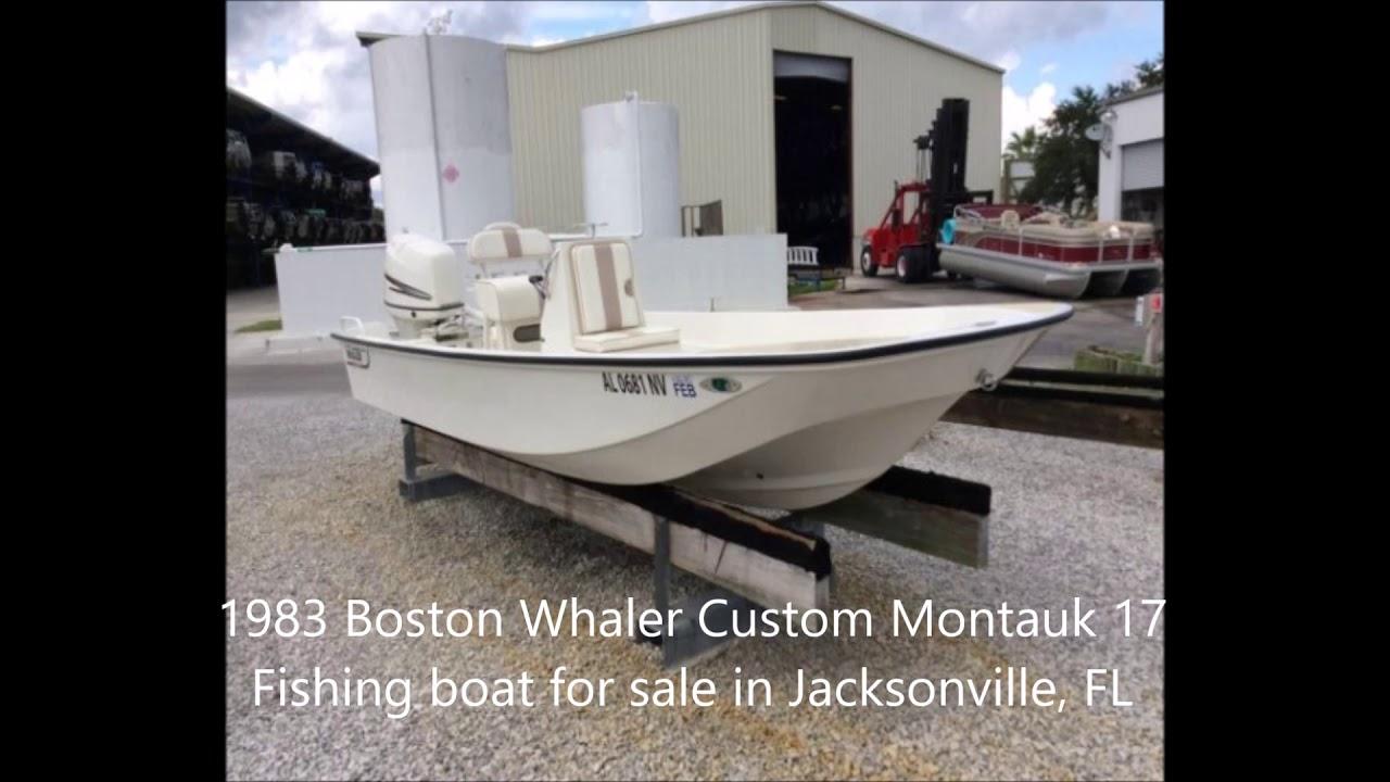 1983 Boston Whaler Custom Montauk 17 Fishing boat for sale in Jacksonville,  FL  $19,000