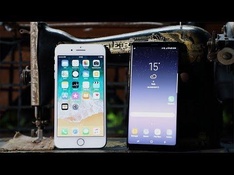 Samsung Galaxy Note 8 vs iPhone 8 Plus : le choc des titans en vidéo