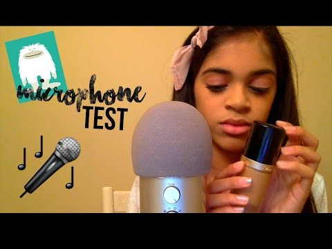 Blue Yeti Microphone Test🎤 (whispering, tapping, mouth sounds)