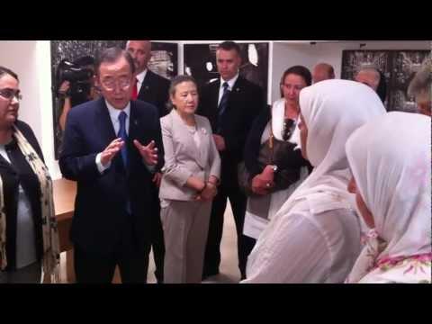 Secretary General Ban Ki-moon visits mothers of victims in Srebrenica